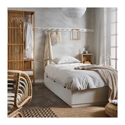 NORDLI - rangka tempat tidur dg penyimpanan, putih, 120x200 cm   IKEA Indonesia - PH165856_S4