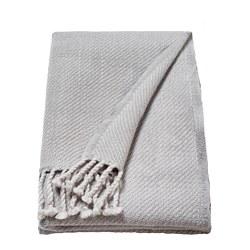 OMTÄNKSAM - Throw, light grey