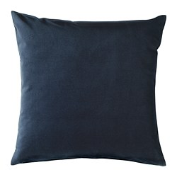 SANELA - Cushion cover, dark blue
