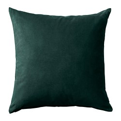 SANELA - Cushion cover, dark green