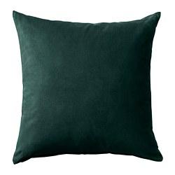 SANELA - Sarung bantal kursi, hijau tua