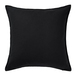 GURLI - Cushion cover, black