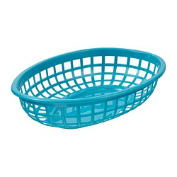 UTEFEST - Serving basket, turquoise