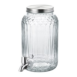 KALASFINT - Jar with tap, clear glass