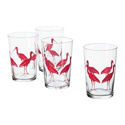 SOMMARLIV - Glass, patterned/bird