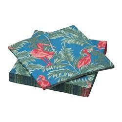 SOMMARLIV - Paper napkin, bird/multicolour