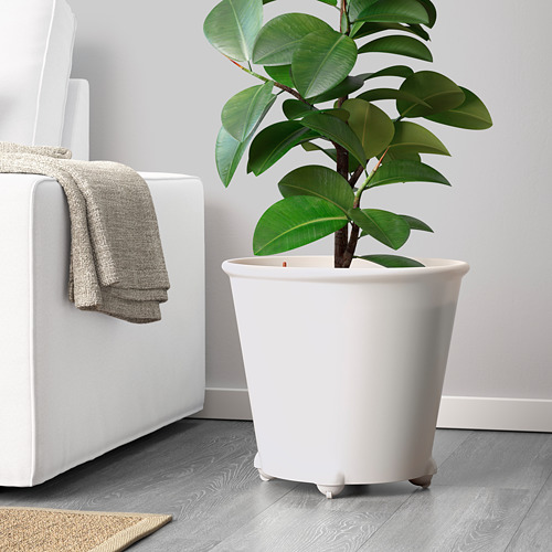 IKEA PS FEJÖ - pot tanaman dengan sumbu, putih, 32 cm   IKEA Indonesia - PE588608_S4