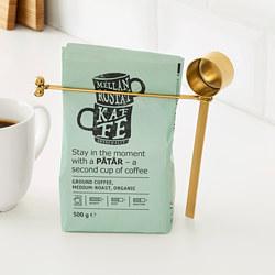 TEMPERERAD - Coffee measure and clip, brass