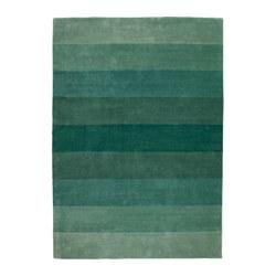 NÖDEBO - Karpet, bulu tipis, buatan tangan/hijau