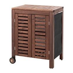 ÄPPLARÖ/KLASEN - Storage cabinet, outdoor, brown stained