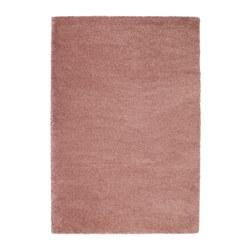 ÅDUM - Karpet tebal, cokelat muda-merah muda