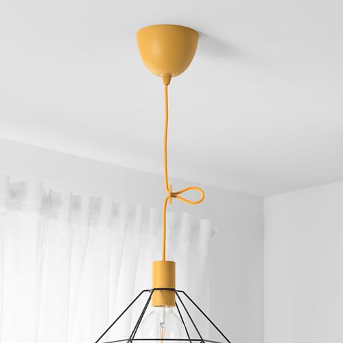 SUNNEBY - cord set, dark yellow textile, 1.8 m   IKEA Indonesia - PE768076_S4