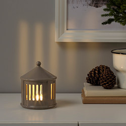 STRÅLA - LED table decoration, battery-operated/beige