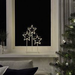 STRÅLA - LED table decoration, battery-operated/star 3