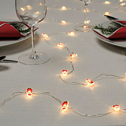 STRÅLA - LED lighting chain with 30 lights, battery-operated/Santa Claus