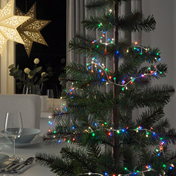 STRÅLA - LED lighting chain with 160 lights, battery-operated mini/multicolour