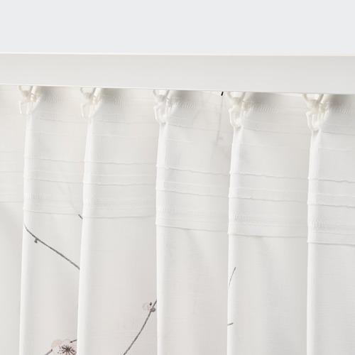 RÖDLÖNN - curtains, 1 pair, white/flower, 145x250 cm   IKEA Indonesia - PE782737_S4