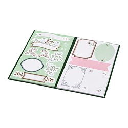 ANILINARE - Folder with stickers, green beige/floral patterned