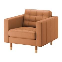 LANDSKRONA - Armchair, Grann/Bomstad golden-brown/wood