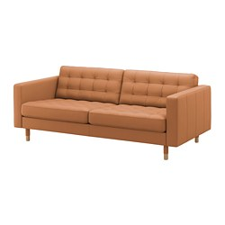 LANDSKRONA - 3-seat sofa, Grann/Bomstad golden-brown/wood