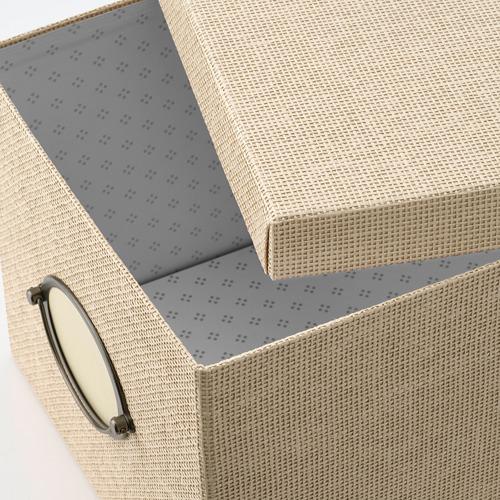 KVARNVIK kotak penyimpanan dengan penutup