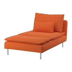 SÖDERHAMN - Chaise longue, Samsta orange