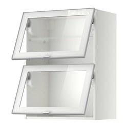 METOD - Kab dinding horizontal dg 2 pnt kc, putih/Jutis kaca frosted