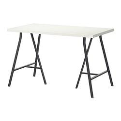 LERBERG/LINNMON - Meja, putih/abu-abu