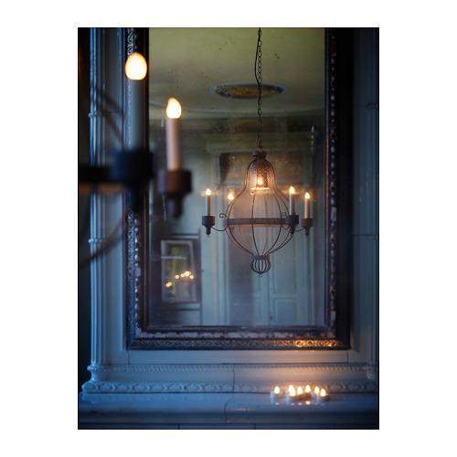 ÄPPELVIKEN lampu gantung, 4 lengan