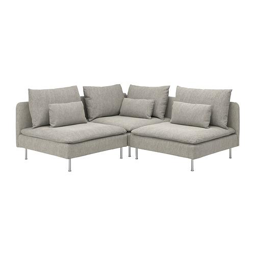 SÖDERHAMN sofa sudut, 3 dudukan
