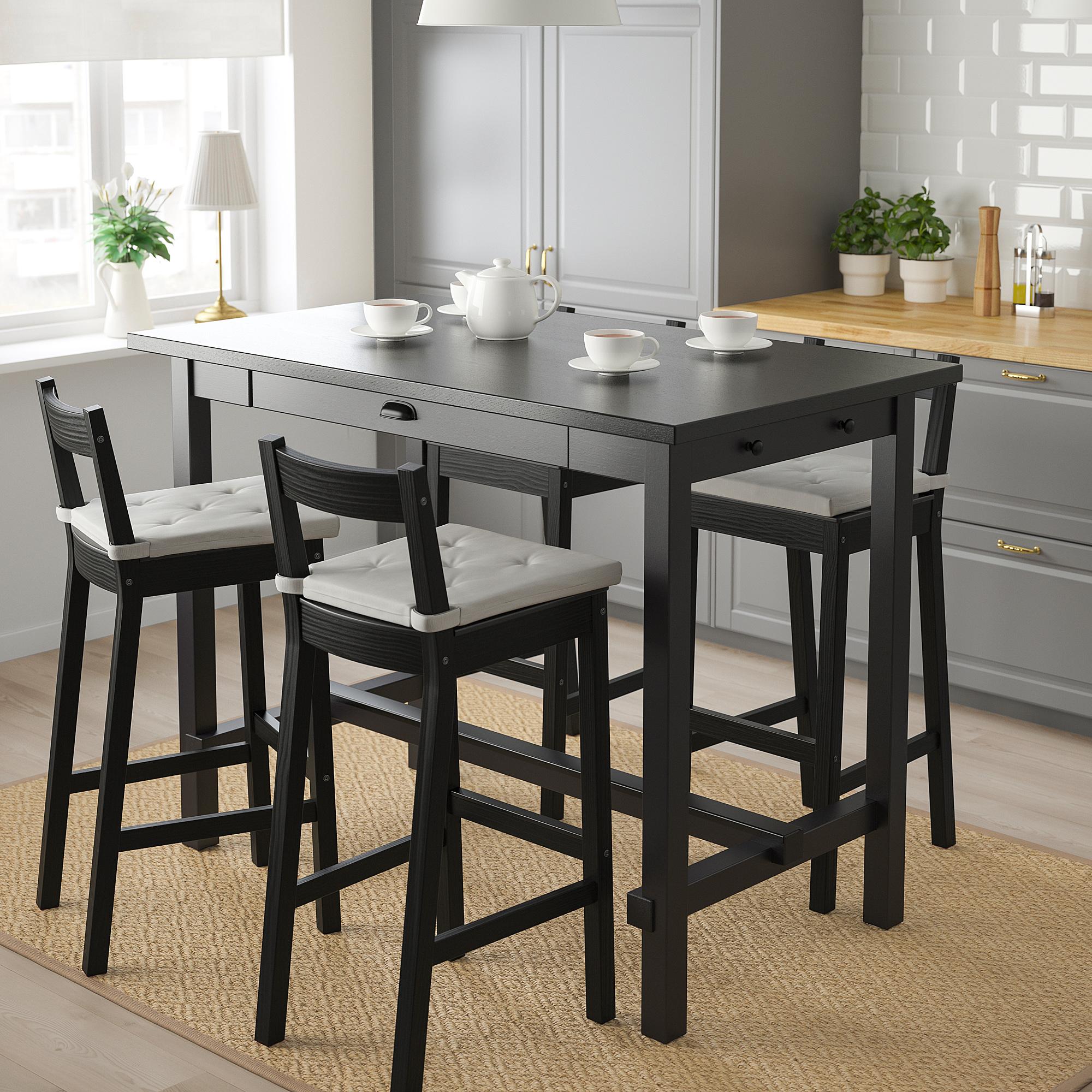 Nordviken Nordviken Bar Table And 4 Bar Stools Black Black Ikea Indonesia
