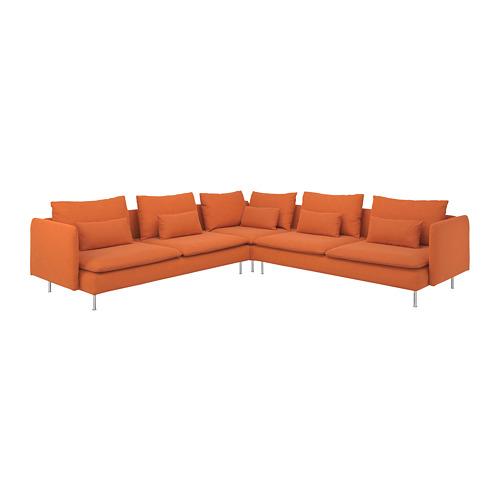 SÖDERHAMN sofa sudut, 6 dudukan