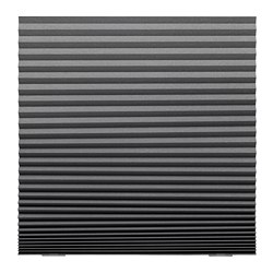 SCHOTTIS - Block-out pleated blind, dark grey