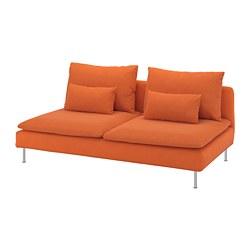 SÖDERHAMN - 3-seat section, Samsta orange