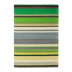 STOCKHOLM - Karpet, bulu tipis, buatan tangan hijau