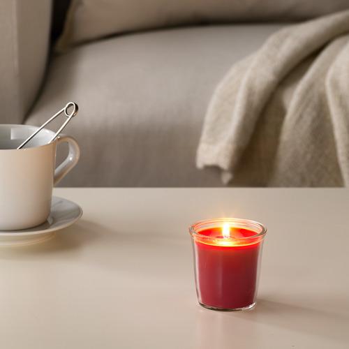 SMÅTREVLIG - lilin beraroma dalam gelas, Berry mix/merah, 7 cm | IKEA Indonesia - PE629556_S4