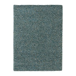VINDUM - Rug, high pile, blue-green