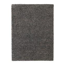 VINDUM - Rug, high pile, dark grey
