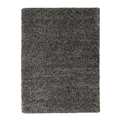 VINDUM - Rug, high pile, dark grey