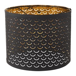 NYMÖ - Lamp shade, black/brass-colour