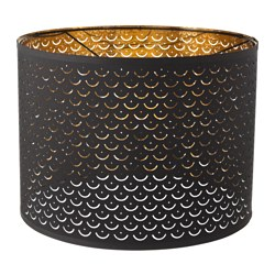 NYMÖ - Lamp shade, black/brass-colour