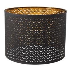 NYMÖ - NYMÖ, kap lampu, hitam/warna kuningan, 44 cm
