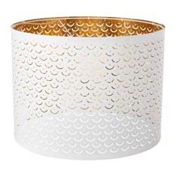 NYMÖ - Lamp shade, white/brass-colour
