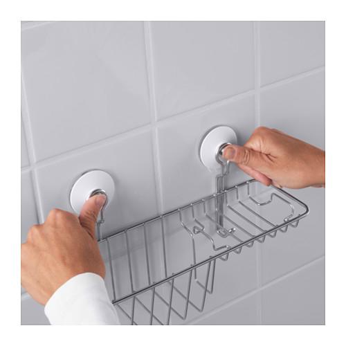 IMMELN keranjang alat mandi dengan pengait