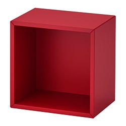 EKET - Wall-mounted shelving unit, red
