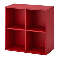 EKET - Cabinet with 4 compartments, red
