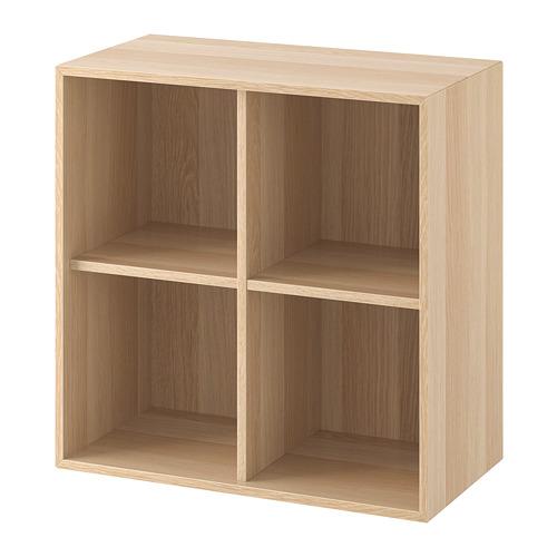 EKET - kabinet dengan 4 kompartemen, efek kayu oak diwarnai putih, 70x35x70 cm   IKEA Indonesia - PE724757_S4
