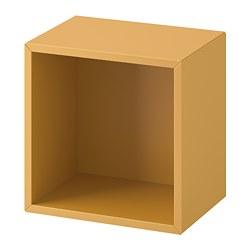 EKET - Wall-mounted shelving unit, golden-brown