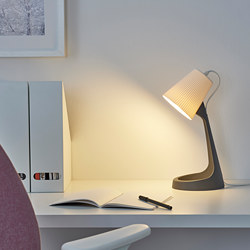 SVALLET - Work lamp, dark grey/white