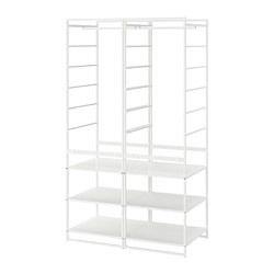 JONAXEL - Shelving unit with clothes rail